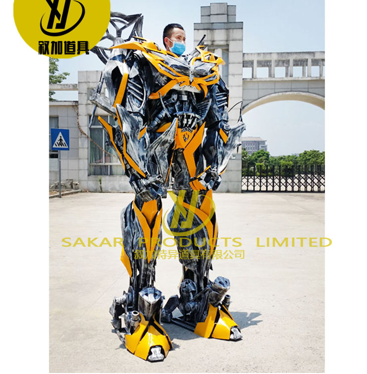 custom mascot costumes Realistic Large Size Adult Size Popular Exhibition bumblebees Robot Costume suit