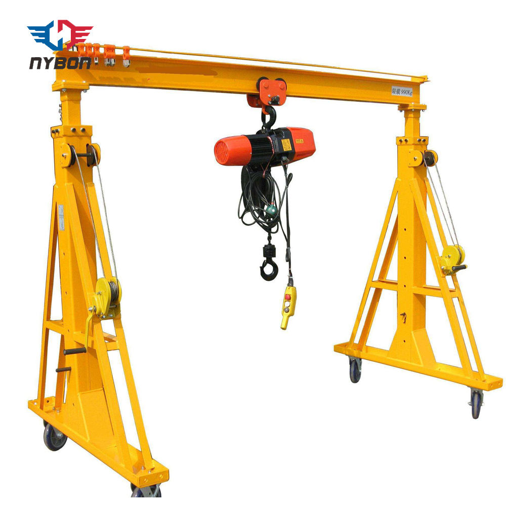Hand Winch Height Adjustable Portable Mini Lifting Gantry Crane