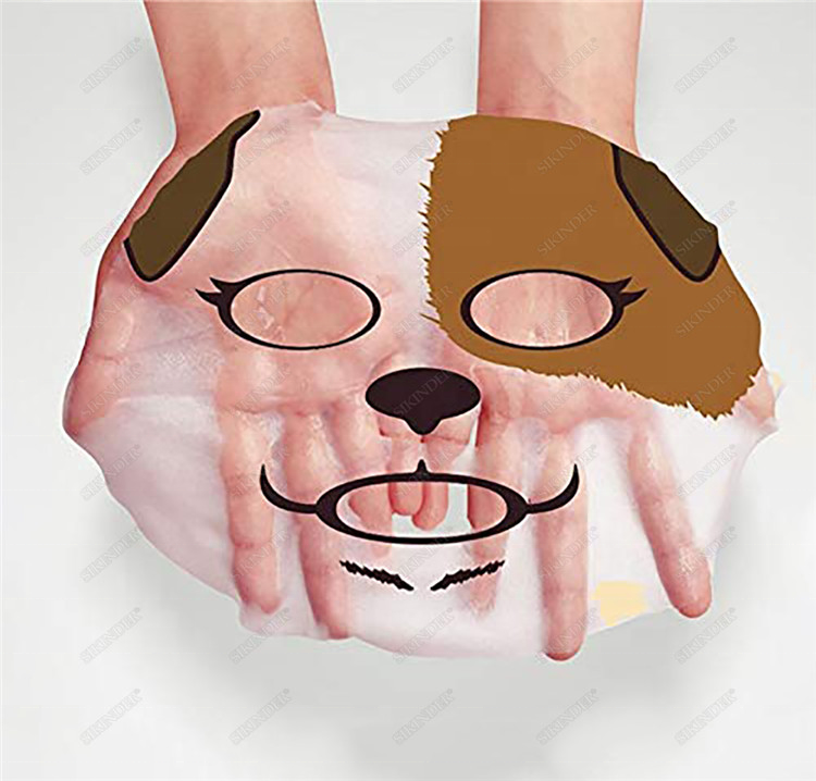 OEM ODM custom Vitamin C 3D animal facial mask