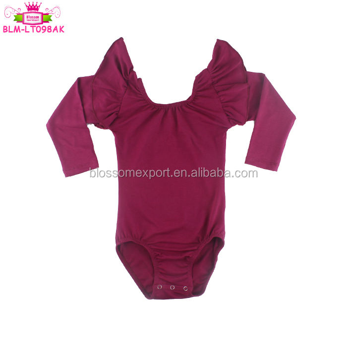 Top selling Baby Romper Soft Knit Cotton Gymnastic Flutter Sleeve Snap Button Baby Leotards