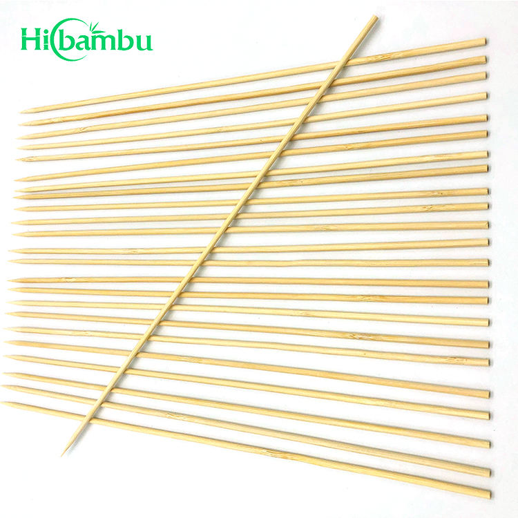 Disposable handle bamboo roasting marshmallow sticks BBQ bamboo skewer