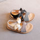 Pu Kids Sandal Girl Sandal Smipou Ss20 New Fashion Girl's Kids Beach Sandal With Bow Tie
