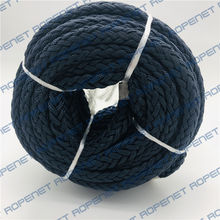 8-strand mooring line/rope with good quality, hollow braided polyester rope