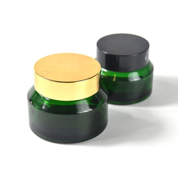 Luxury body 5g glass cosmetic body cream jar with lids recyclable