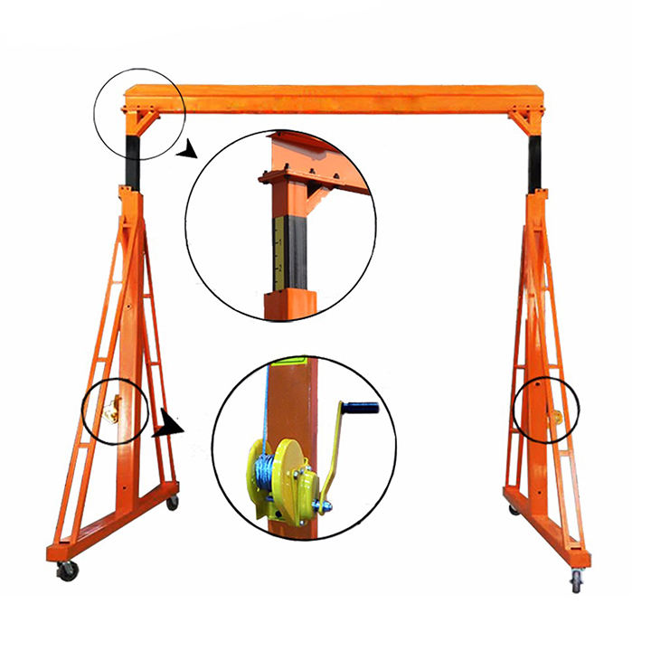 Chinese supplier mini mobile gantry crane single girder gantry crane,rubber tyre gantry crane,used crane for sale