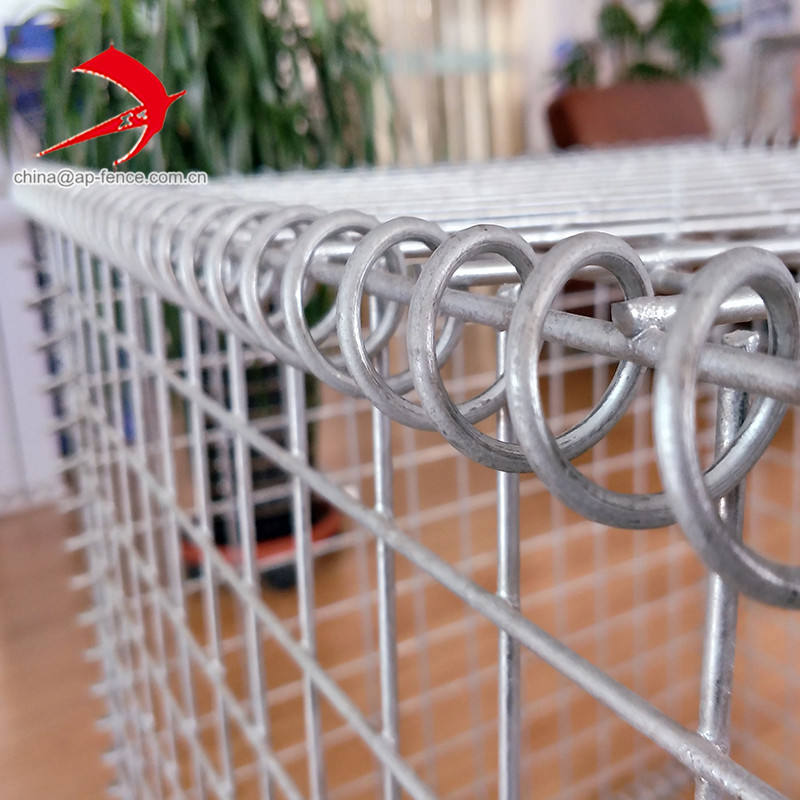 High quality galvanized gabion cage stone basket 4mm 4.5mm 5mm 6mm welded gabion box wire fencing