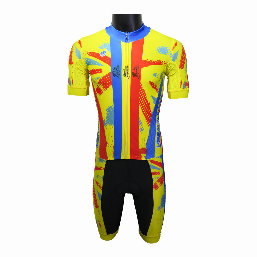 high quality pro custom cycling jersey skin suit,men's cycling suit with padded cycling shorts,colorful road bike cycling suit