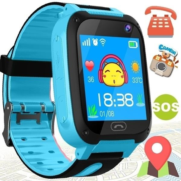 S4 Children GPS SOS Intelligent Monitoring Calling Smart Watch for kids with camera dial Call Anti Lost