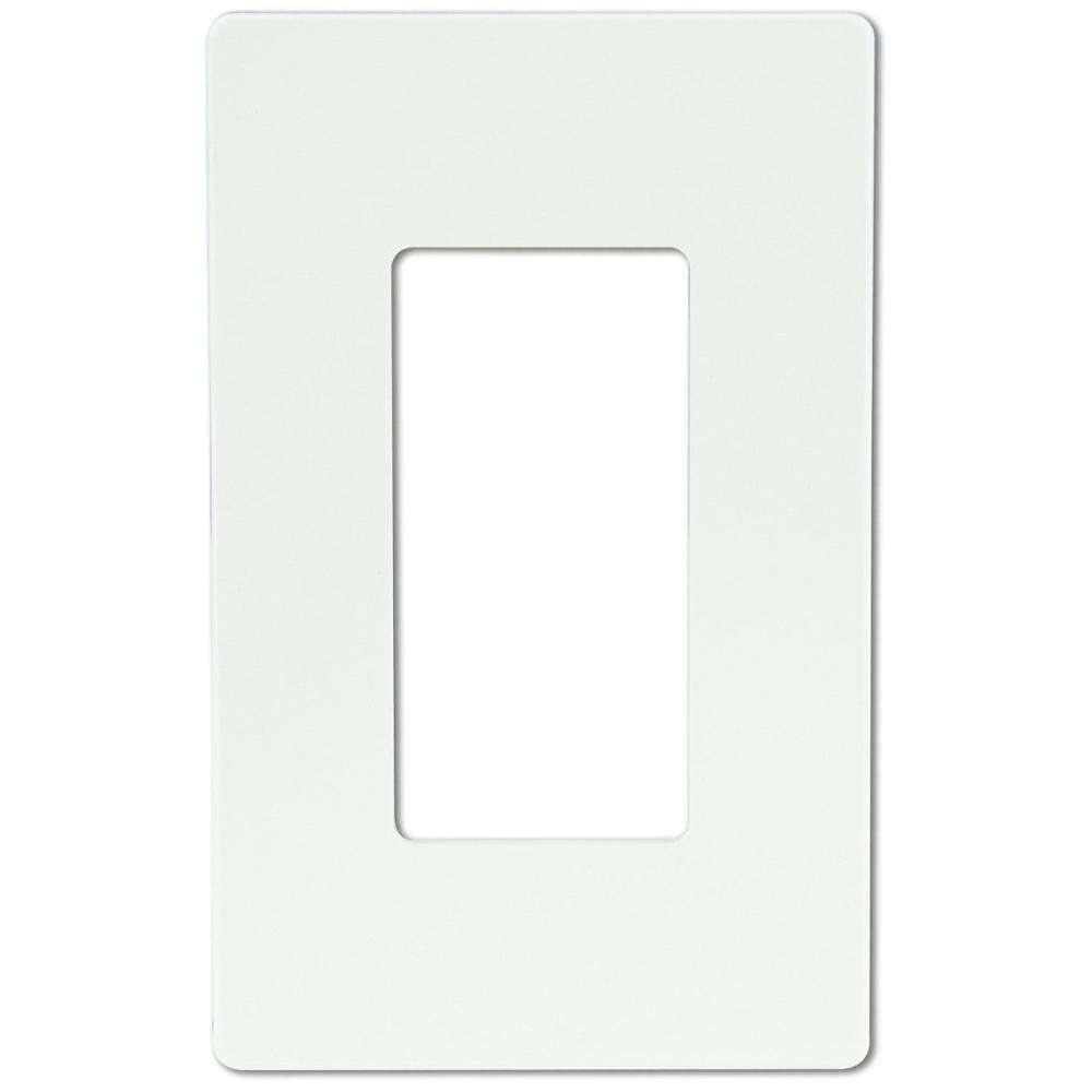 Shanghai Linsky 1-Gang Screwless Decorator Switch/Outlet Wall Plate - White