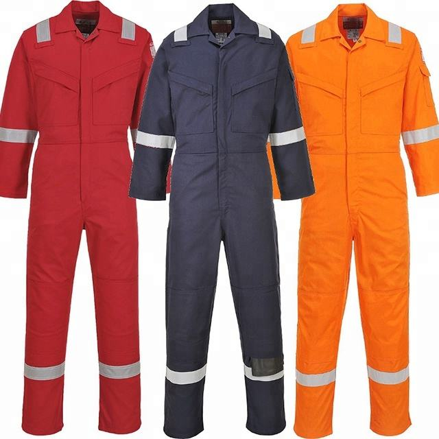 IEC61482-2 ARC FLASH 100% Cotton Sateeen FR 350gsm Industrial Fire Retardant Coverall