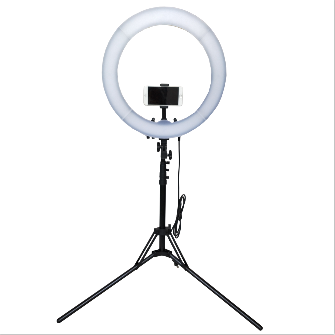 12 selfie led ring light kit 240 pcs photographic lighting aro de luz with tripod stand & cell phone holder for makeup youtube
