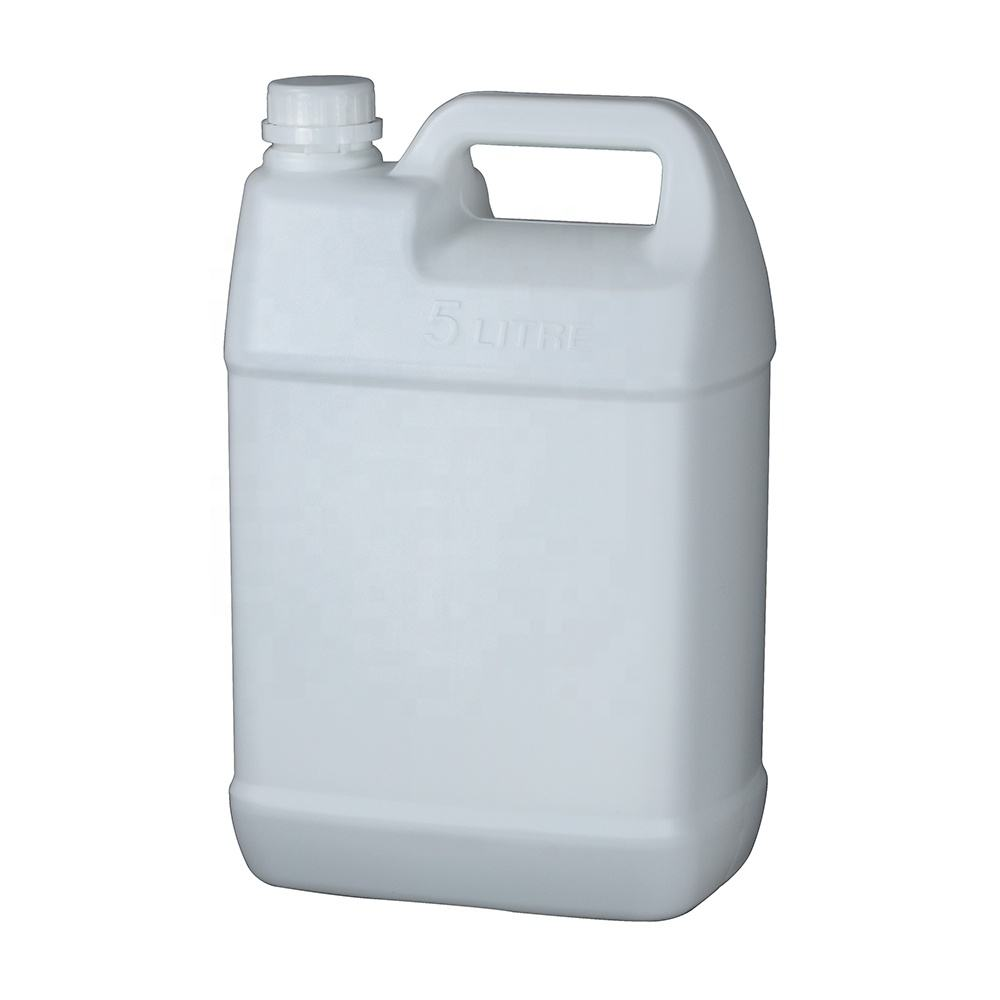 5L plastic barrel for liquid oil square jerry can HDPE 5 litre chemical drum with transparent scale line 5 KGS bucket container