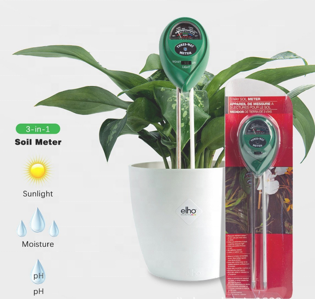 3 in 1 Soil PH meters /Moisture/Light Meter soil tester kit for plant flowers