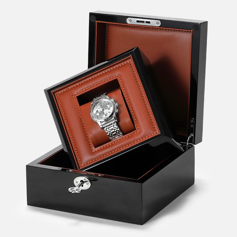 Sundo professional customization pu leather solid wood luxury watches box for high-end wristwatches