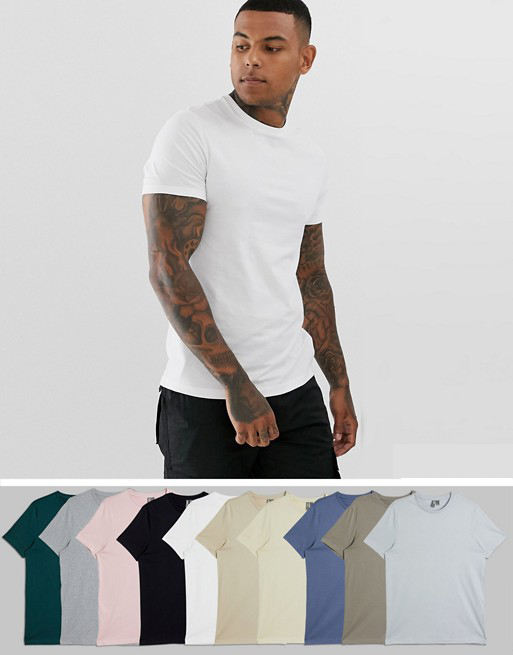 100%Cotton Custom OEM Simple Short Sleeve Men's T Shirt