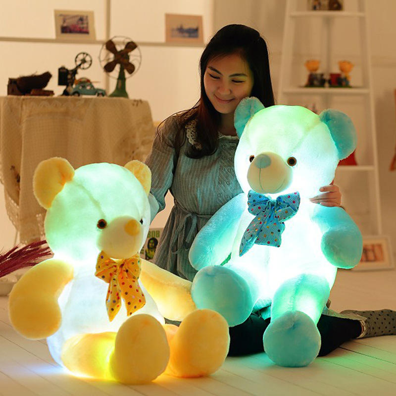 Led Teddy Bear 50cm LED Plush Teddy Bears Stuffed Animals Plush Toy Colorful Glowing Gift for Kids