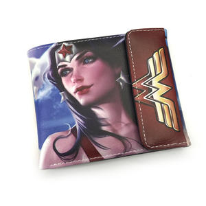 Wonder Woman Cosplay película PU cartera plegable Anime cartera corta