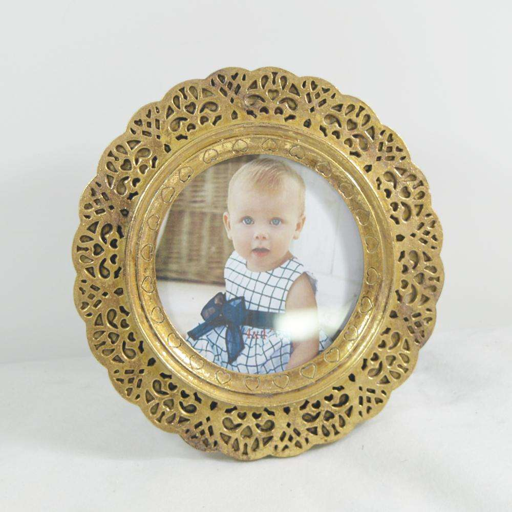 Custom lace chic antique silver ornate photo picture frame