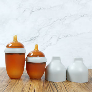 HEORSHE 240ml 8oz Hot selling Nature feeding bottle set bpa free baby bottles for 0-12month
