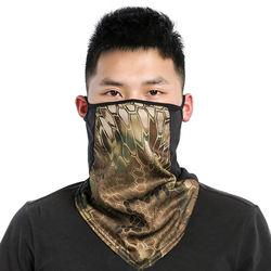 Fashion Half Face Triangle Balaclava Polyester Earloop Bandanas Headwear