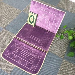 customized polyester muslim portable prayer mat with back rest