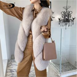 Winter Sleeveless Jacket Plus Size Puffer Fox Gilet Fashion