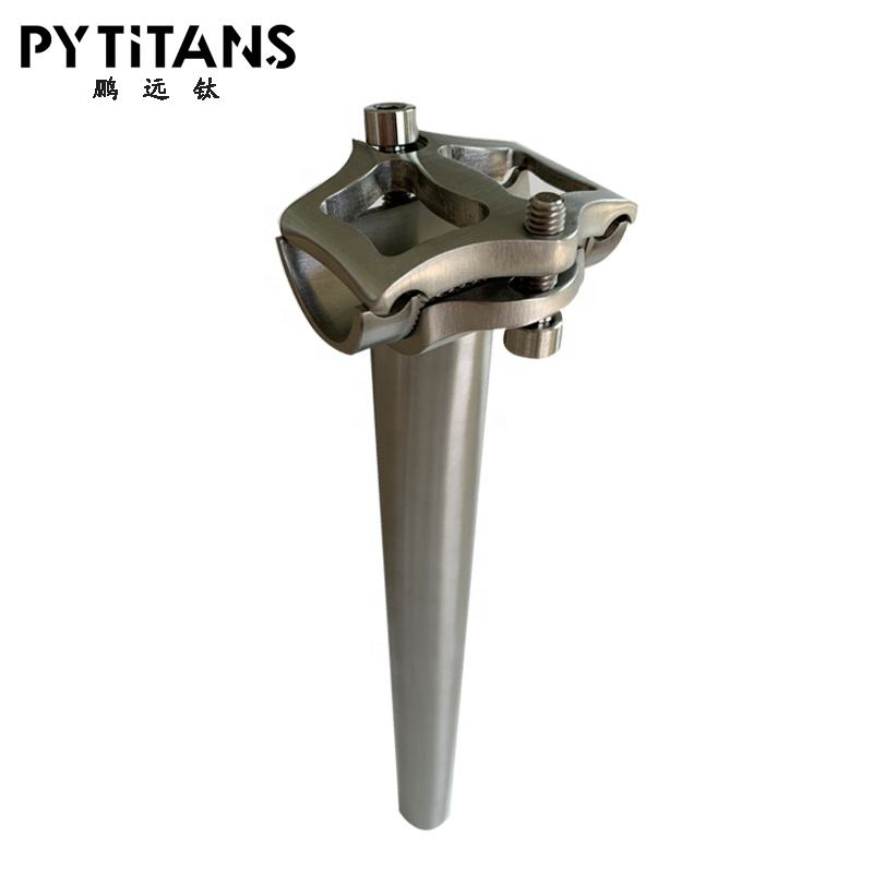 Factory Wholesale Price Grade 9 Titanium seat post for road bike or Mountain bike 27.2mm 30.9mm 31.6mm 34.9mm bike parts