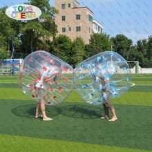1mm PVC TPU clear football inflatable transparent human body size bumper ball team games for soccer