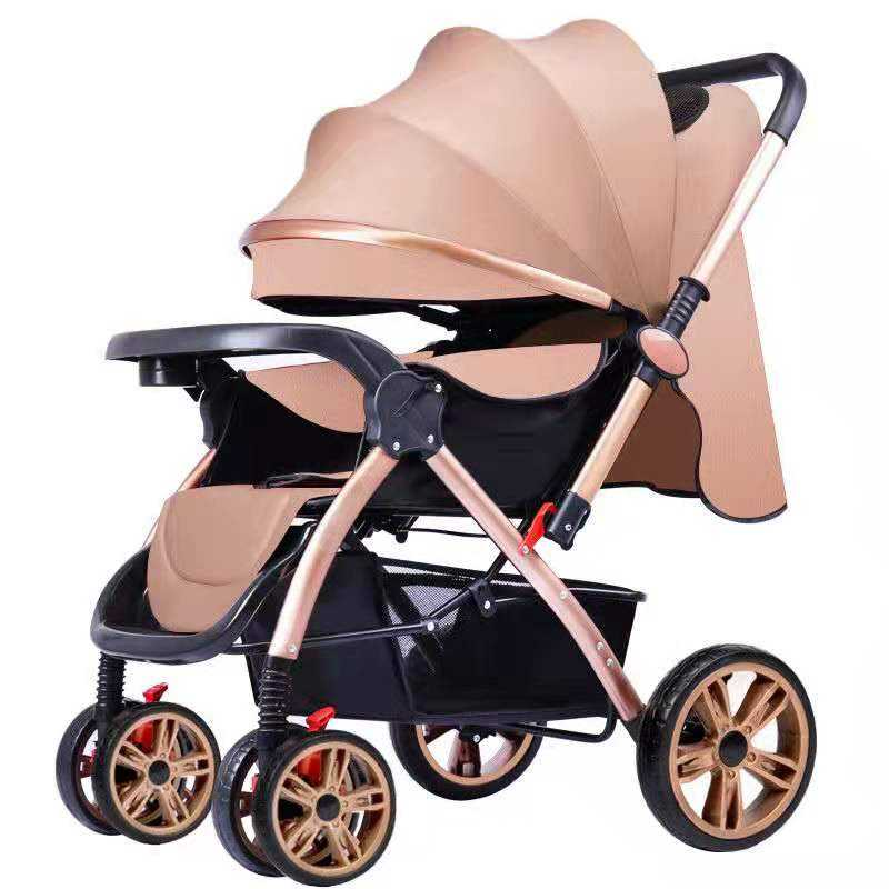 China Fabrik Billig EVA Räder Faltbare Plegable Luxus Jogger Baby Trolley Kinderwagen