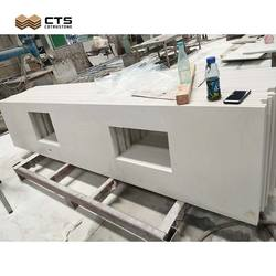 Kitchen Crystal White Quartz Mirror Countertop