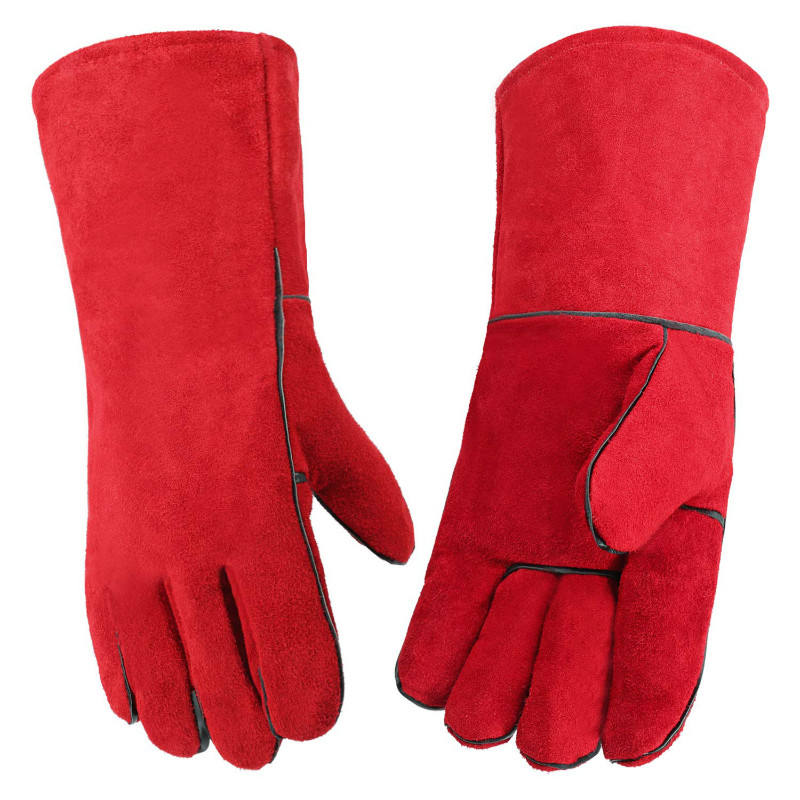 Red Protection Anti Cut Heat Resistant Household Heavy Duty Cookware Grilling Welder Weld Work Gloves