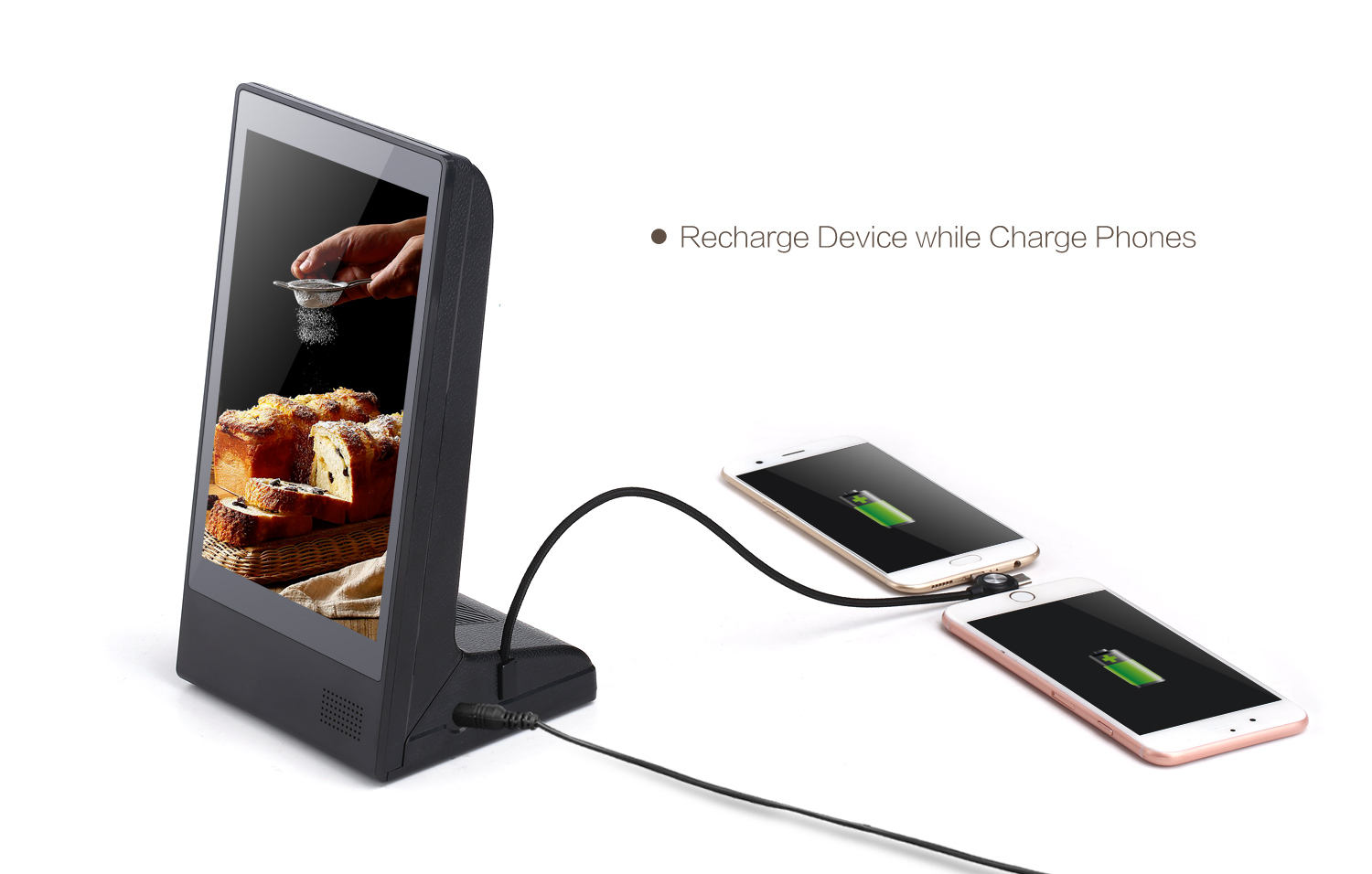 Advertising Display FYD-898 New Restaurant Desktop Table Stand WiFi Small Screen Android Digital Menu Video Advertising Panel Display AD Player
