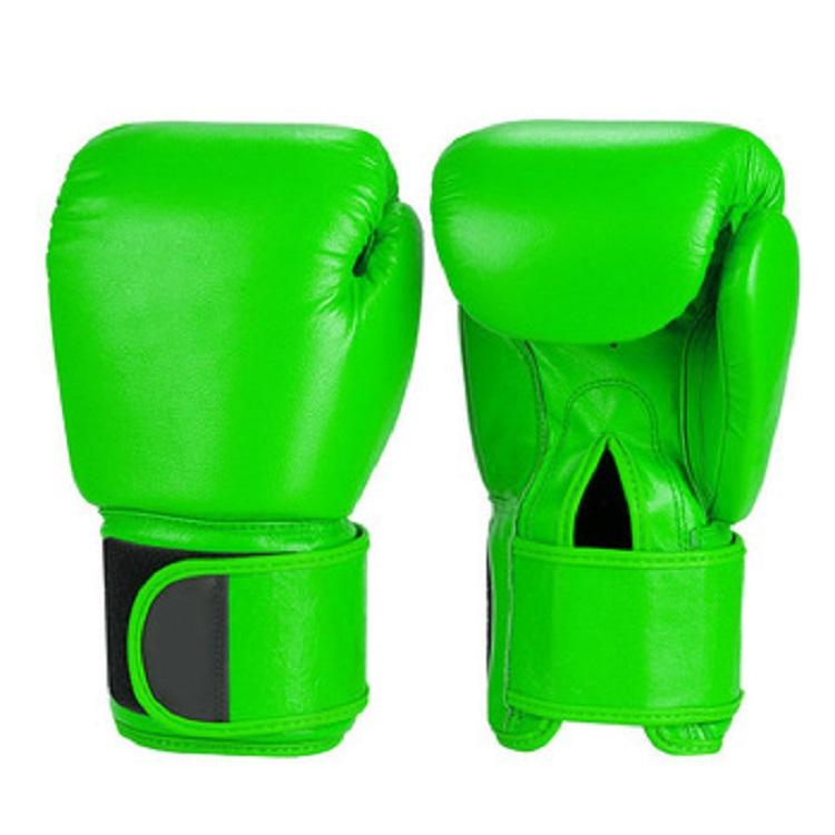 China Factory High Quality Green PU Leather MMA Muay Thai And Boxing Gloves Meaning