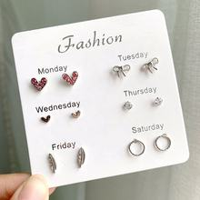 Earings for women 2019 Seafood style 6 pairs per set earring stud set women fashion jewellery 2019