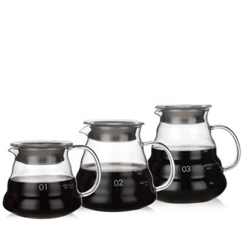 chinese high borosilicate glass coffee pot for coffee glass coffee kettle