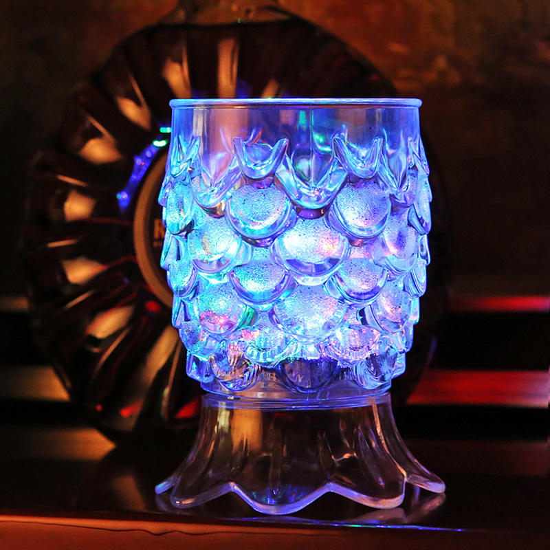 Led Mug Cup Ready Hand Fast Delivery Whisky Brandy Cocktail Cup Colorful Lights Mini Party Decorated Glass Cup With Led Lights