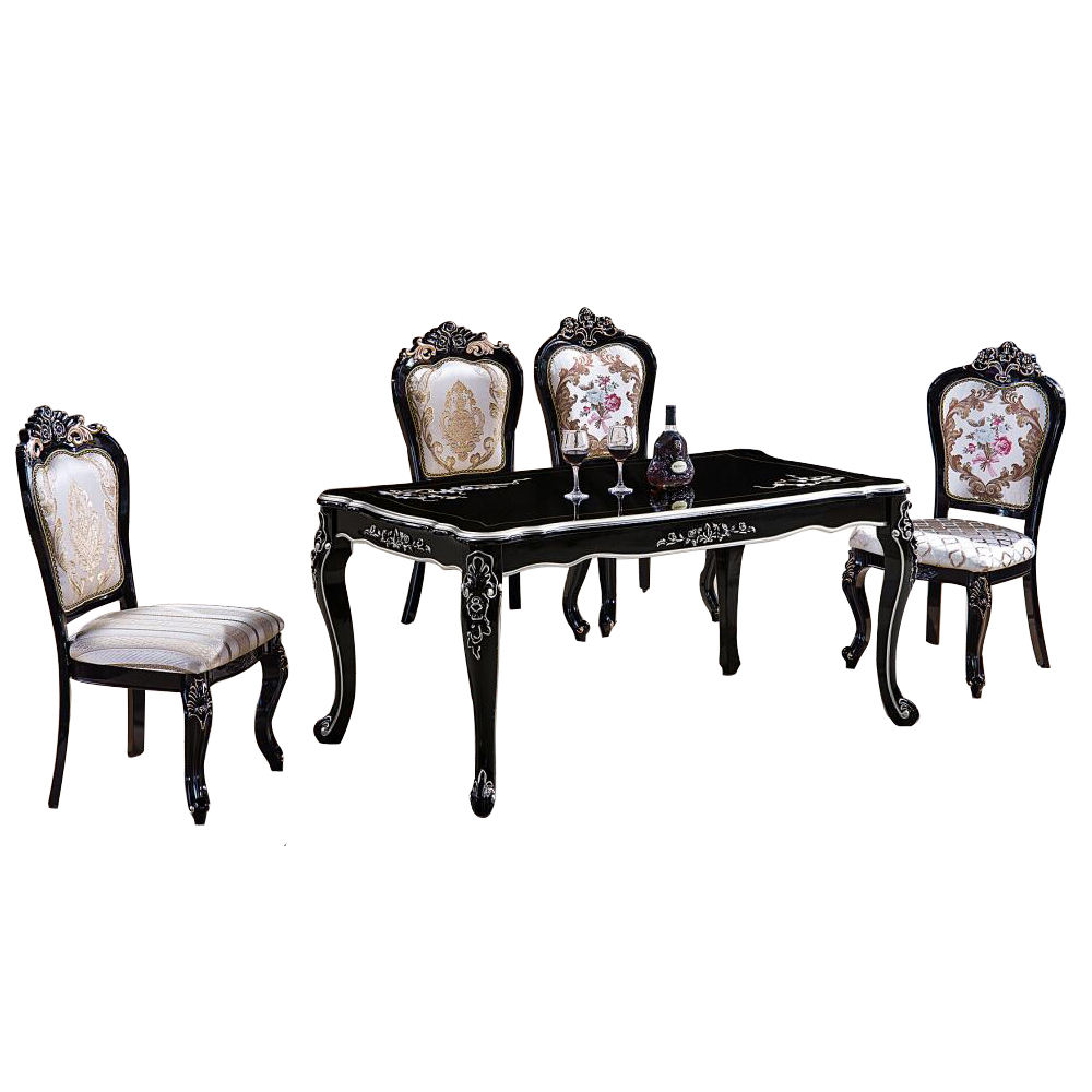 luxury design good price wooden Dining Table Set/ dining table and chair
