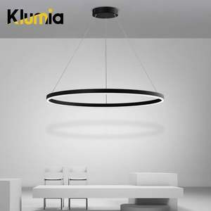 KLUMIA New arrival Aluminum Metal Acrylic Indoor Bedroom 30 w 39 w Hanging Modern LED Pendant Light