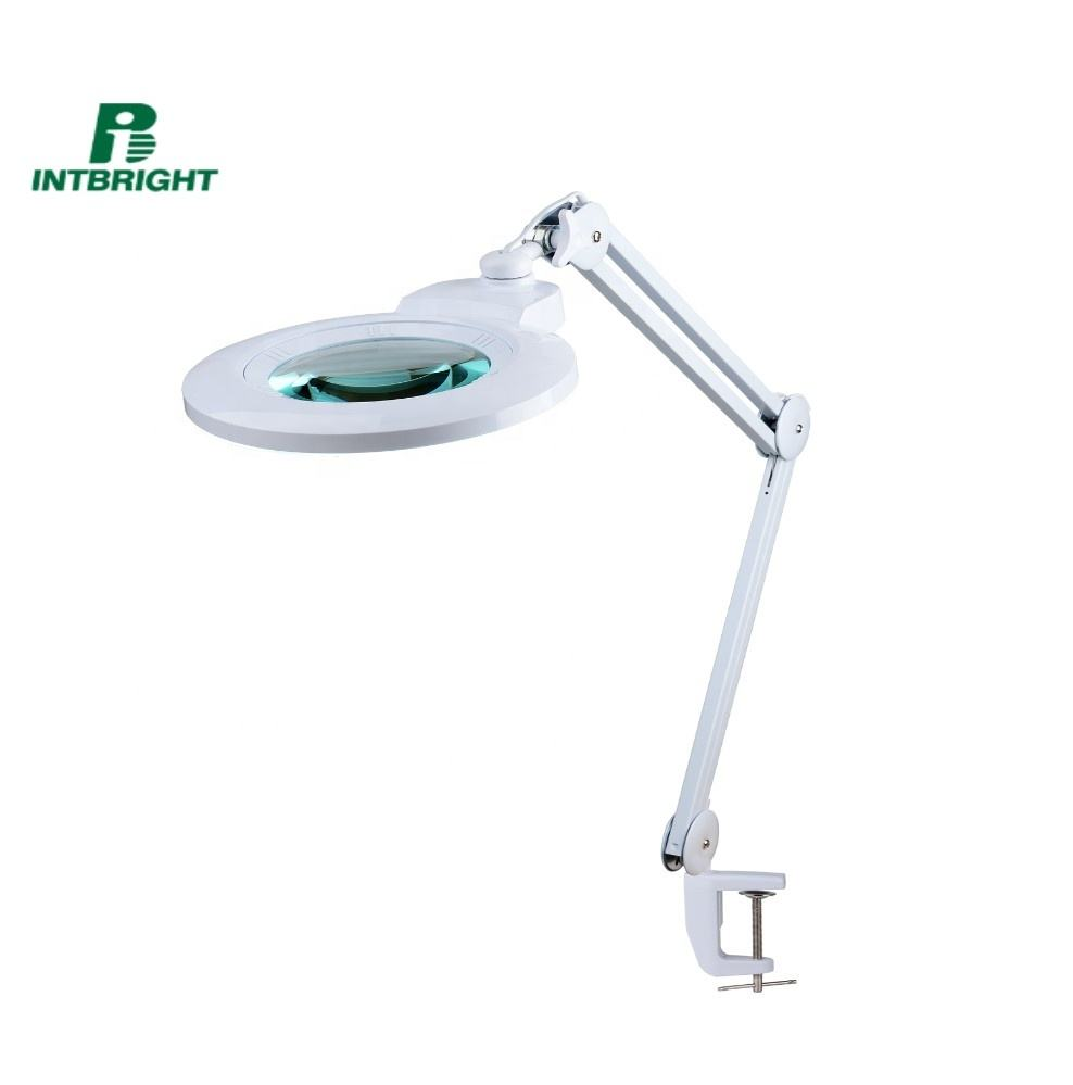 dimmable 178mm large lens magnifying glass with led light magnifier lamp magnifying beauty lamp for eyelash extension