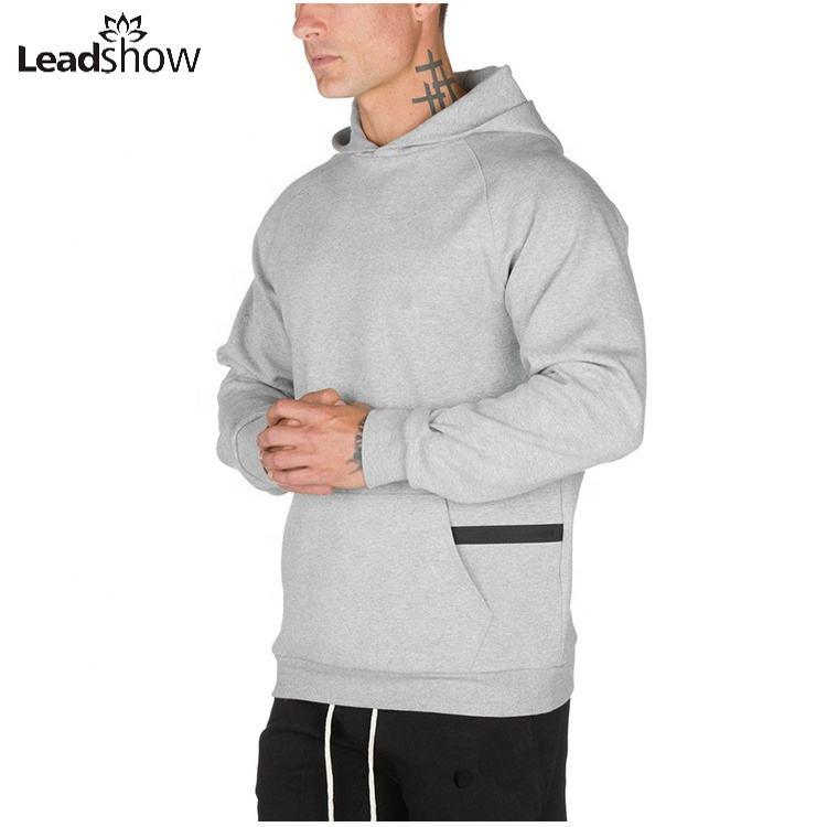 Bông tùy chỉnh Bán Buôn Trống Thời Trang Giản Dị chất lượng cao mùa đông mens đồng bằng cotton kaki hoodies áo nỉ