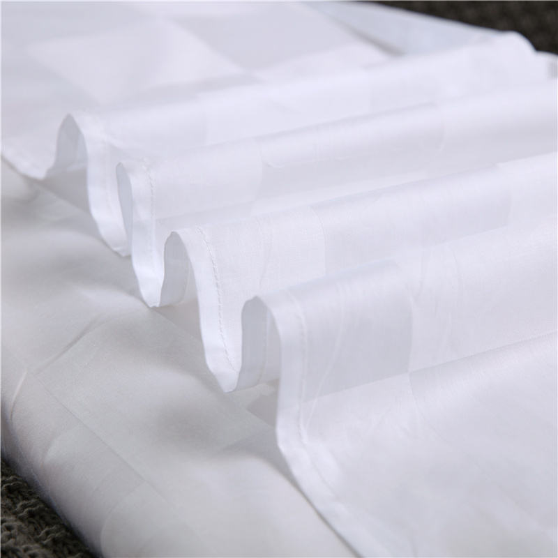 White Cover Jacquard Fabric 100% 100 Combed Cotton