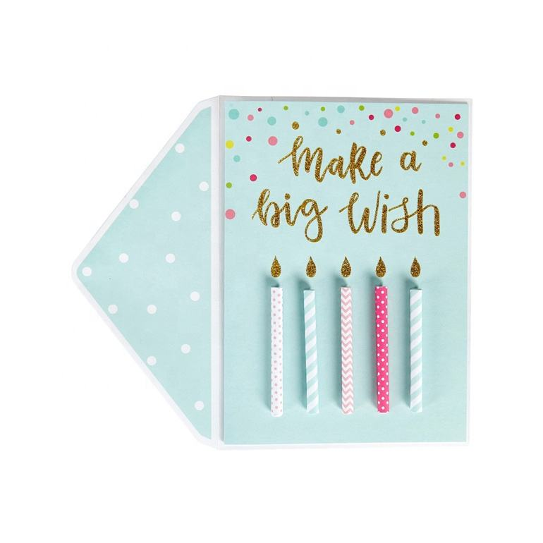Birthday Paper Cards 3d Paper Birthday Card Best Seller Rolled Paper Candles Happy Birthday Cards 3D Handmade Birthday Greeting Cards