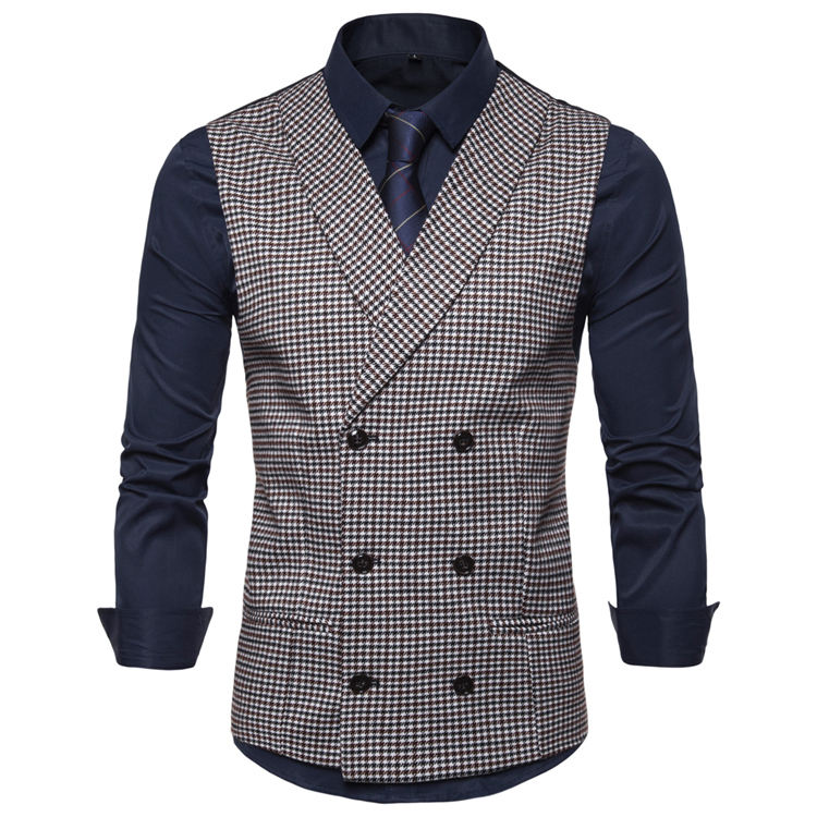 Men's V-Neck Sleeveless Slim Fit Jacket Casual Suit Vests Fit Tuxedo Waistcoat for Party Dinner Prom Wedding Banquet