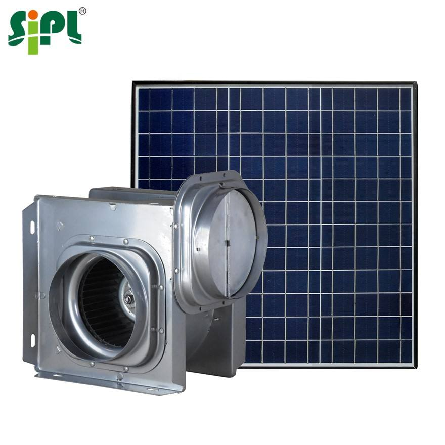 Sunny Vent Tools Solar Panel Power Attic Air Ventilator Roof Exhaust Fan Wall Air Blower Ceiling Centrifugal 6'' 40W Duct Fan