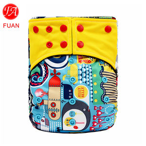 Reusable Nappies Cloth Diapers Printed Baby Cloth Diapers For Newborns Washable Diaper Training Pants Ecological Pant