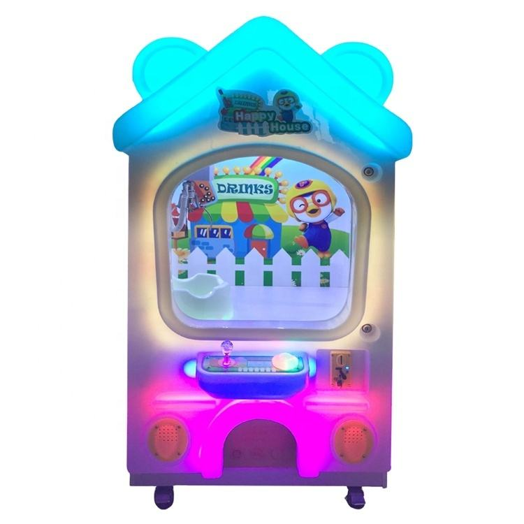 Happy Dog House Small Kids Coin Operated Prize Crane Claw Machine