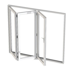 Estándar australiano As2047 Patio barato acordeón Bi plegable PVC UPVC Temper Glass Bifold puerta