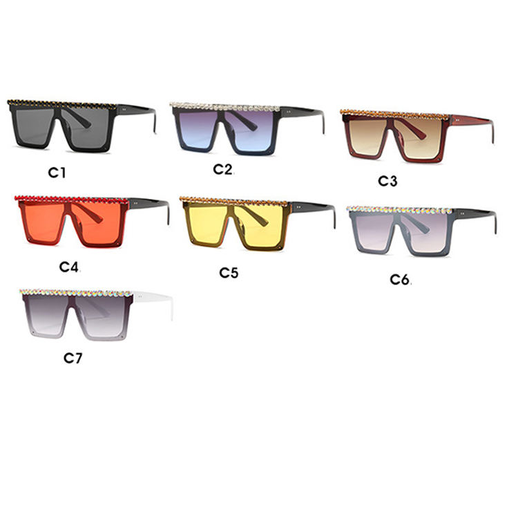 2020 newest design oversized square frame colourful lens shades sunglasses for men and women Luxury sunglasses