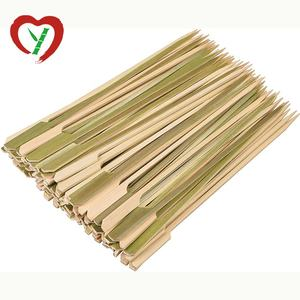 21cm Natural Green Bamboo Paddle Skewer Sticks 100 Pcs BBQ Tool
