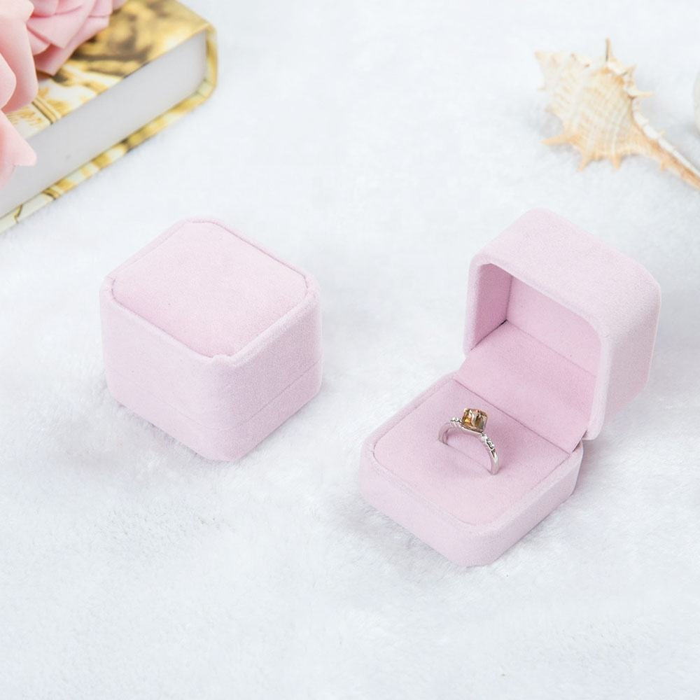 Flannelette Ring Box Jewelry Box